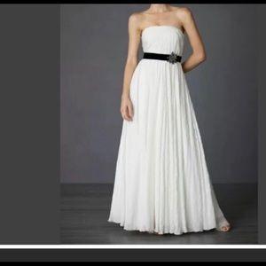 BHLDN Astral gown star silk strapless dress SZ 8